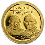 Tanzania 2014 Gold Canonization of the Popes (1/2 gram)