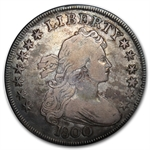1800 Draped Bust Dollar - Very Fine Details - Punch Mark