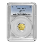 2014 1/20 oz Gold Lunar Year of the Horse (Series II) MS-69 PCGS