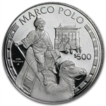 1995 $500 Cook Island Marco Polo Proof Platinum Coin .999 Fine