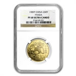 1989 (1/2 oz Proof) Gold Chinese Pandas - PF-68 UCAM NGC