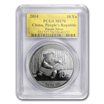 2014 1 oz Silver Chinese Panda - MS-70 PCGS (Gold Label)