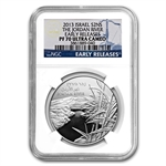 2013 Israel The Jordan River Proof 1 oz Silver PF-70 UCAM ER NGC