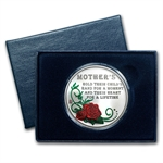 1oz Happy Mother's Day Enameled Silver Round - Rose (w/Box & Cap)