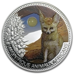 Niger 2013 1 oz Proof Silver Fennec Fox with Jade Insert