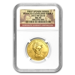 2012-W 1/2oz Proof Frances Cleveland - 2nd Term MS-70 NGC