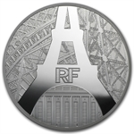 2014 5 oz Silver The Eiffel Tower and The Palais de Chaillot