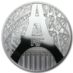 2014 10 Euro Silver The Eiffel Tower and The Palais de Chaillot