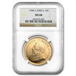 1984 1 oz Gold South African Krugerrand NGC MS-68
