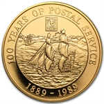 Cayman Islands 1989 Gold 100 Dollars Proof Postal Service