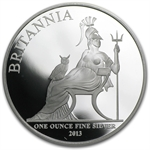 2013 1 oz Silver Proof Britannia - Capsule only