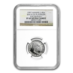 1997 1/4 oz Hawaiian Platinum King PF-69 UCAM NGC