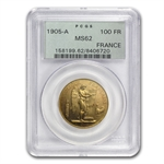 France 1905 100 Franc Gold Angel MS-62 PCGS