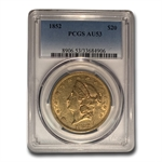 1852 $20 Gold Liberty Double Eagle - AU-53 PCGS