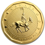 2011 1 oz Gold Canadian Mountie Maple Leaf .99999 (No Assay Card)