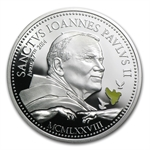 Cook Islands 2014 Silver $2 Pope John Paul II