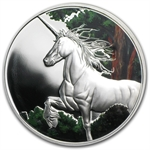 Tokelau 2014 1 oz Reverse Color Proof Silver $5 Unicorn