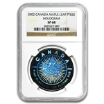 2002 1 oz Hologram Platinum Maple Leaf SP-68 NGC