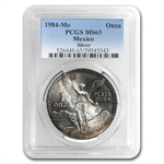 1984 1 oz Silver Mexican Libertad MS-65 PCGS (Toned)