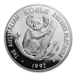 1992 2 oz Proof Australian Platinum Koala (w/Box & CoA)