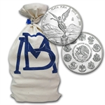 2013 1 oz Silver Mexican Libertad 450-Coin Original Bank Bag