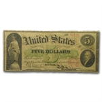 Series 1863 $5 Legal Tender Alexander Hamilton (VG)