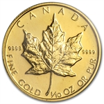 1994 1/10 oz Gold Canadian Maple Leaf