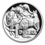 2014 1 oz Proof Silver 30th Anniversary High Relief Kangaroo