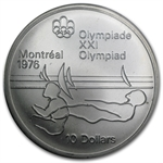 1976 $10 Canadian Olympic Silver Coin (BU/Proof) ASW 1.4454