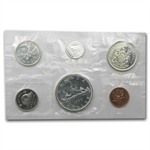 1959 - 1966 6-Coin Canadian Prooflike Silver Coin Sets (1.11 ASW)