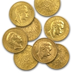 Germany (Prussia) 20 Marks Gold Coins - AU or Better AGW .2304