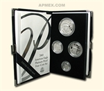 2003-W 4-Coin Proof Platinum American Eagle Set (w/Box & Coa)