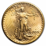 1909-S $20 St. Gaudens Gold Double Eagle - MS-64 PCGS