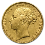 Great Britain 1885 Gold Sovereign - (Extra Fine)