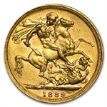 1889-M Australia Gold Sovereign (AU)