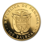 Panama 1975 100 Balboas Gold Proof AGW .2361