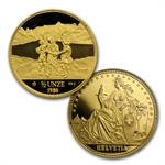 Switzerland 1986 Gold 4-Coin Proof Set AGW 1.85