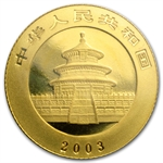 2003 (1/10 oz) Gold Chinese Pandas - (Sealed)