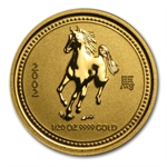 2002 1/20 oz Gold Year of the Horse Lunar Coin (Series I)