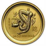 2001 1/4 oz Gold Year of the Snake Lunar Coin (Series I)