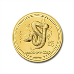 2001 1/20 oz Gold Year of the Snake Lunar Coin (Series I)