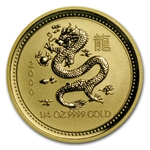 2000 1/4 oz Gold Year of the Dragon Lunar Coin (Series I)