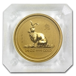 1999 1/4 oz Gold Year of the Rabbit Lunar Coin (Series I)