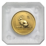 1999 1/10 oz Gold Year of the Rabbit Lunar Coin (Series I)