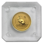 1999 1/20 oz Gold Year of the Rabbit Lunar Coin (Series I)
