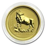 1997 1/4 oz Gold Year of the Ox Lunar Coin (Series I) Key Date!