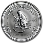 2004 1/2 oz Silver Lunar Year of the Monkey (Series I)