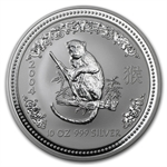 2004 10 oz Silver Lunar Year of the Monkey (Series I)