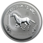 2002 10 oz Silver Lunar Year of the Horse (Series I)