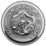 2000 2 oz Silver Lunar Year of the Dragon (Series I)